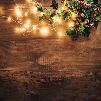 christmas-composition-with-mistletoe-string-lights_23-2147709886